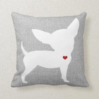 Chihuahua Dog Lover Heart Pet Cushion