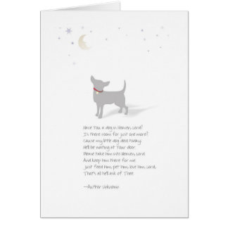 Chihuahua Dog Pet Sympathy-Male-Insert Pet Name Greeting Card