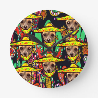 CHIHUAHUA DOG ROUND CLOCK