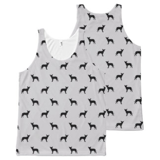 chihuahua dog silhouette pattern All-Over print tank top