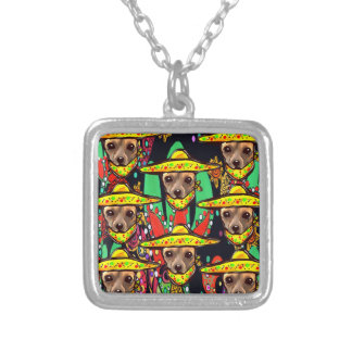 CHIHUAHUA DOG SILVER PLATED NECKLACE