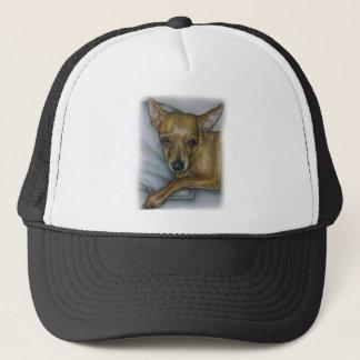 chihuahua drawing of dog animal art trucker hat