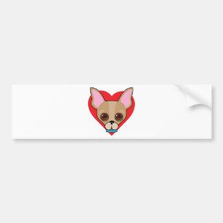 Chihuahua Face Bumper Sticker