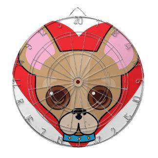 Chihuahua Face Dart Board