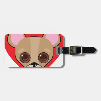 Chihuahua Face Luggage Tag