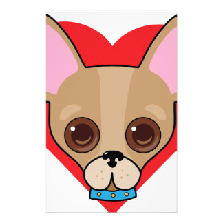 Chihuahua Face Stationery