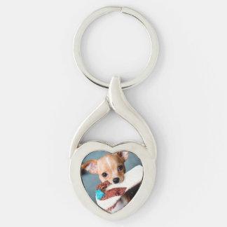 chihuahua flip flops key ring