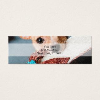 chihuahua flip flops mini business card
