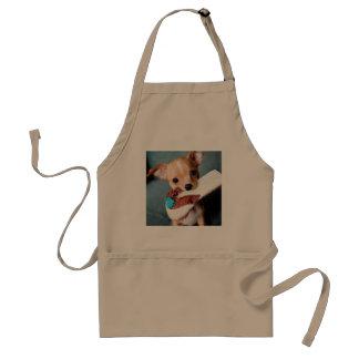 chihuahua flip flops standard apron