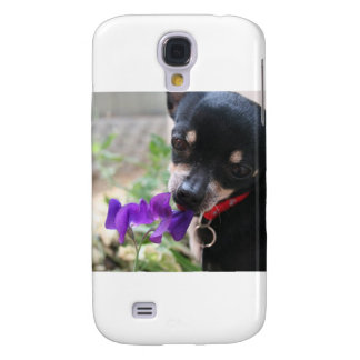 Chihuahua & Flower Samsung Galaxy S4 Case