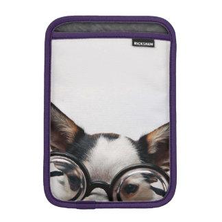 Chihuahua glasses - dog eyeglasses iPad mini sleeve