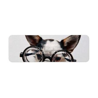 Chihuahua glasses - dog eyeglasses return address label