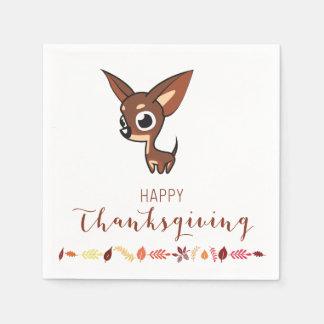Chihuahua Happy Thanksgiving Paper Napkins