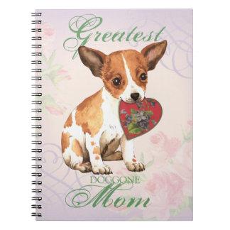 Chihuahua Heart Mom Note Books
