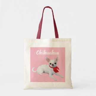 Chihuahua Illustrated Tote Bag