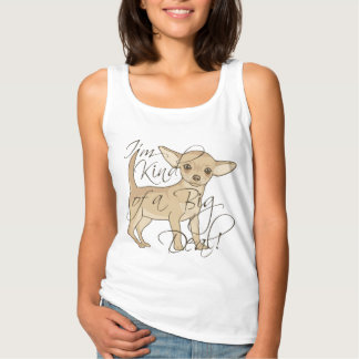 Chihuahua I'm Kind of a Big Deal Graphic Design Singlet