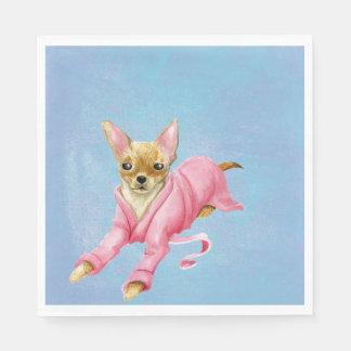 Chihuahua in a Bathrobe Dog Lunch Napkins Paper Napkin