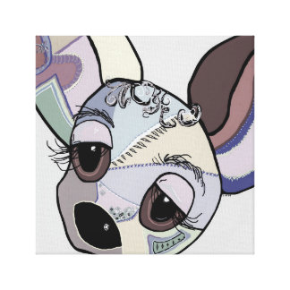 Chihuahua in Denim Colors Canvas Print