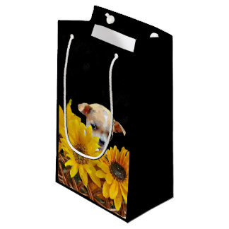 Chihuahua in sunflowers gift bag