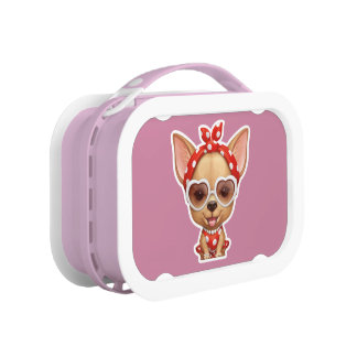 Chihuahua in the Guise of a Retro Beauty Lunch Boxes
