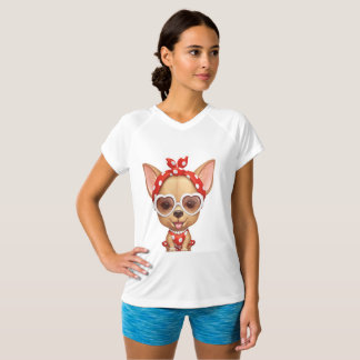 Chihuahua in the Guise of a Retro Beauty T-Shirt
