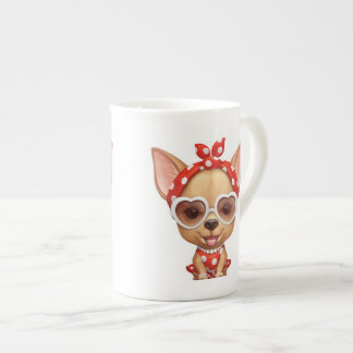 Chihuahua in the Guise of a Retro Beauty Tea Cup