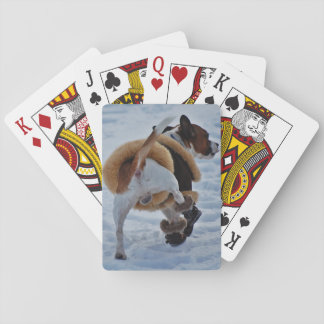 Chihuahua In The Snow Poker Cards