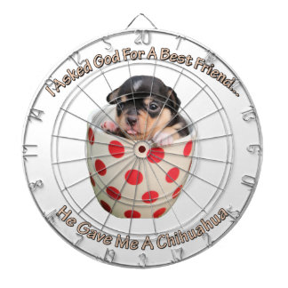 Chihuahua Is My Best Friend Dartboard