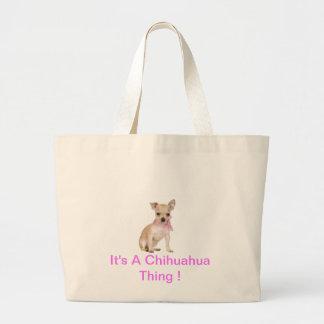 Chihuahua It's A Chihuahua Thing Jumbo Tote Bag