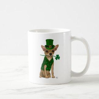 Chihuahua Leprechaun Basic White Mug