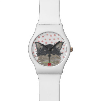 Chihuahua, Long Haired Chihuahua Wristwatch