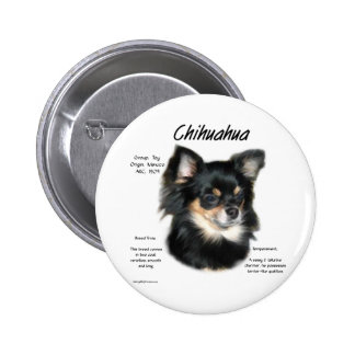 Chihuahua long History Design Buttons