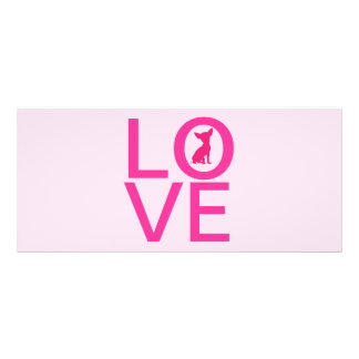 Chihuahua love pink dog cute bookmark, gift idea rack card