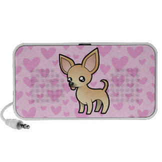 Chihuahua Love (smooth coat) (add your pattern!) Notebook Speakers