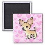 Chihuahua Love (smooth coat) Fridge Magnets