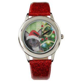 Chihuahua MickeyElvis Christmas Watch
