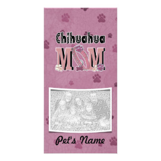 Chihuahua MOM Custom Photo Card