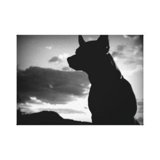 Chihuahua on guard canvas print