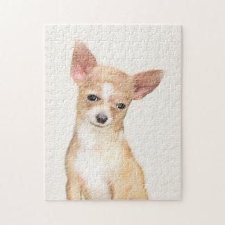 Chihuahua Painting - Cute Original Dog Art Jigsaw Puzzle
