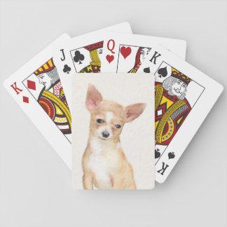 Chihuahua Painting - Cute Original Dog Art Playing Cards
