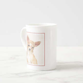 Chihuahua Painting - Cute Original Dog Art Tea Cup