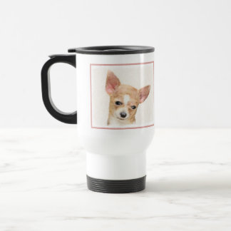 Chihuahua Painting - Cute Original Dog Art Travel Mug