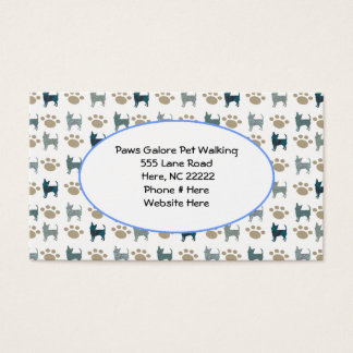 Chihuahua & Paw Business Card