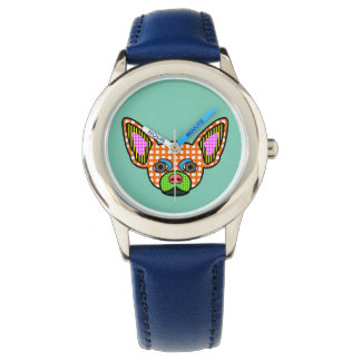 Chihuahua Pop Art Wrist Watches