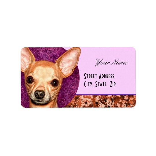 Chihuahua Portrait Address Label