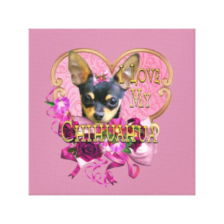 Chihuahua Pretty in Pink Chi Fan Canvas Print