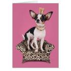Chihuahua Princess Card