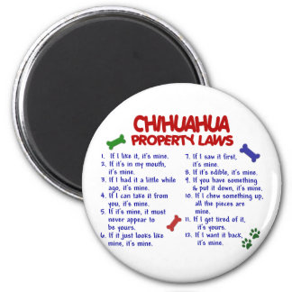 CHIHUAHUA Property Laws 2 6 Cm Round Magnet