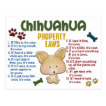 Chihuahua Property Laws 4 Post Cards