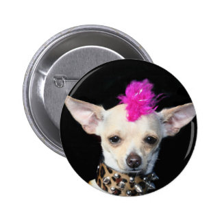 Chihuahua Punk Button